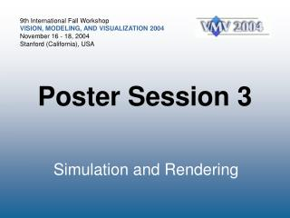 Poster Session 3
