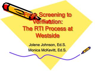 From Screening to Verification: The RTI Process at Westside