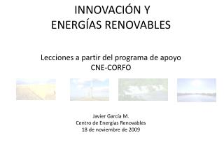 IMPULSO A LA IMPLEMENTACI�N  DE ENERG�AS RENOVABLES