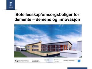 Bofellesskap/omsorgsboliger for demente � demens og innovasjon