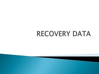 RECOVERY  DATA