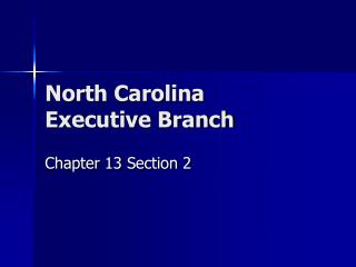 North Carolina Executive Branch