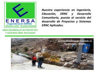AREA DESARROLLO DE PROYECTOS  Y SISTEMAS ERNC APLICADOS