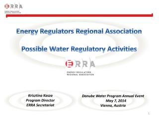 Energy Regulators  Regional  Association Possible Water  Regulatory  Activities