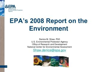EPA's 2008 Report on the Environment