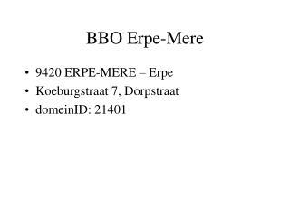 BBO Erpe-Mere