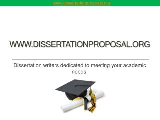 Dissertation Proposal From PhD Writers