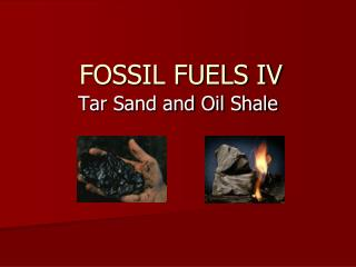 FOSSIL FUELS IV