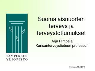 Suomalaisnuorten terveys ja terveystottumukset