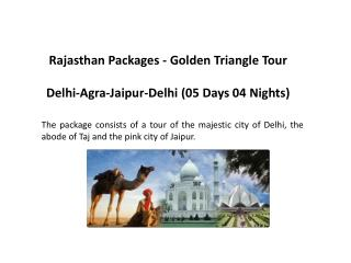 Rajasthan Packages - Golden Triangle Tour