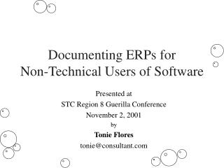 Documenting ERPs for  Non-Technical Users of Software