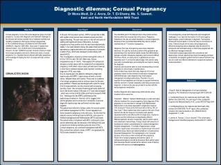Diagnostic dilemma; Cornual Pregnancy