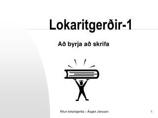 Lokaritgerðir-1