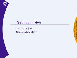 Dashboard HvA