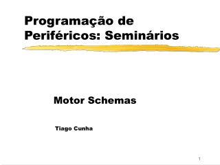 Programação de Periféricos:  Seminários