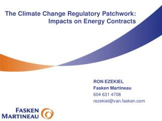 The Climate Change Regulatory Patchwork: Impacts on Energy Contracts