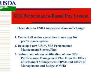 SES Performance-Based Pay System