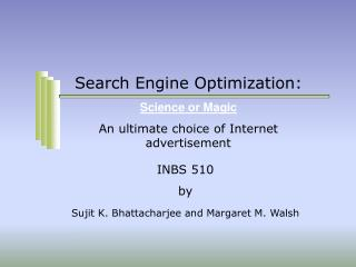 Search Engine Optimization:
