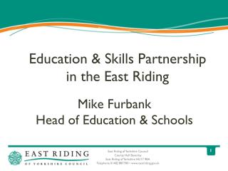 Education & Skills Partnership in the East Riding