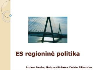 ES regionin ė politika