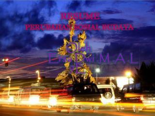 RESUME PERUBAHAN SOSIAL BUDAYA