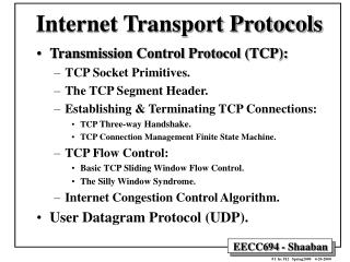Internet Transport Protocols