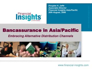 Bancassurance in Asia