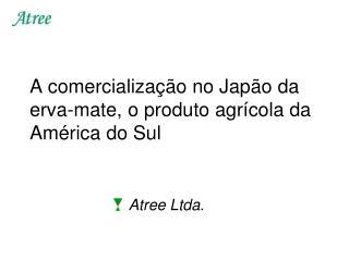A comercialização no Japão da erva-mate, o produto agrícola da América do Sul