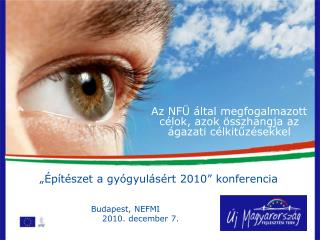 Az NFÜ által megfogalmazott célok, azok összhangja az ágazati célkitűzésekkel