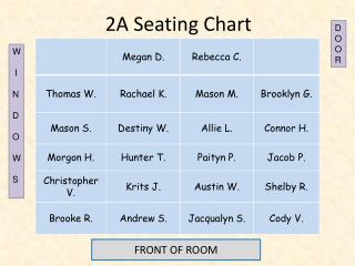 2A Seating Chart