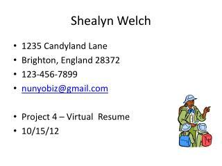 Shealyn  Welch