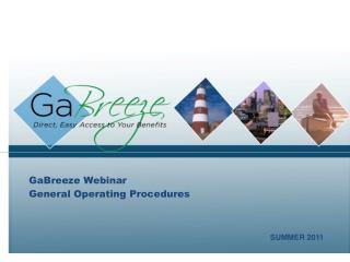 GaBreeze Webinar General Operating Procedures
