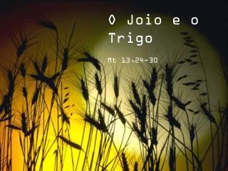 O Joio e o Trigo                    Mt 13,24-30
