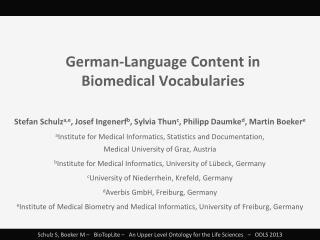 German-Language Content in Biomedical  Vocabularies