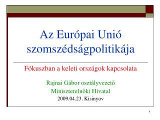 Az Európai Unió szomszédságpolitikája