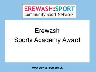Erewash Sports Academy Award