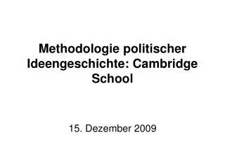 Methodologie politischer Ideengeschichte: Cambridge School
