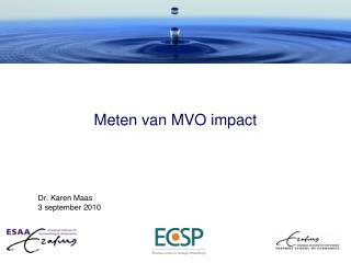 Meten van MVO impact