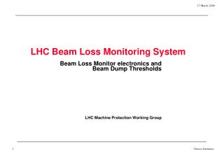 LHC Beam Loss Monitoring System