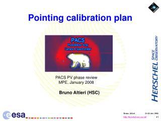 Pointing calibration plan
