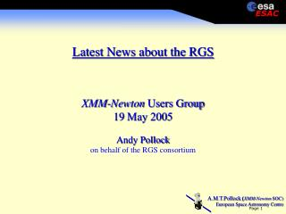 Latest News about the RGS