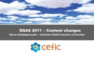 SQAS 2011 – Content changes Steven Beddegenoodts – Chairman  SQAS Executive Committee
