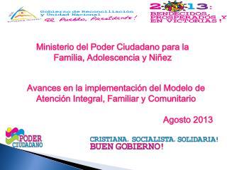 Ministerio del Poder Ciudadano para la Familia, Adolescencia y Niñez