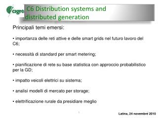 C6 Distribution  systems  and  distributed generation