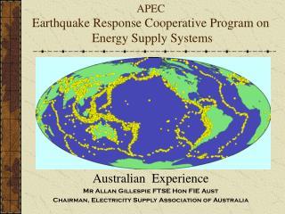 APEC Earthquake Response Cooperative Program on  Energy Supply Systems
