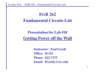 Instructor:  Paul Gordy Office:  H-115 Phone:  822-7175 Email:  PGordytcc