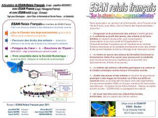 Bureau d' ESAN Relais Français pour 2011