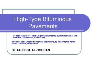 High-Type Bituminous Pavements