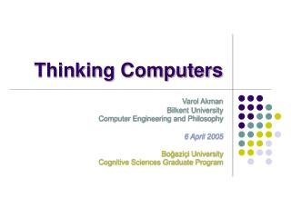 Thinking Computers