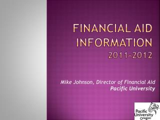 Financial Aid Information 2011-2012